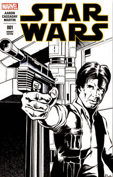 Han Solo Sketch Cover