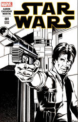 Han Solo Sketch Cover by S-Louis-King