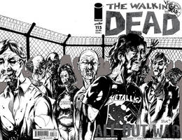 Walking Dead Sketch Cover
