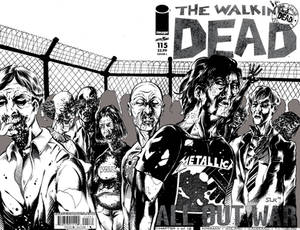 Walking Dead Sketch Cover