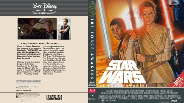 The Force Awakens Vintage Bluray Box Art Collage