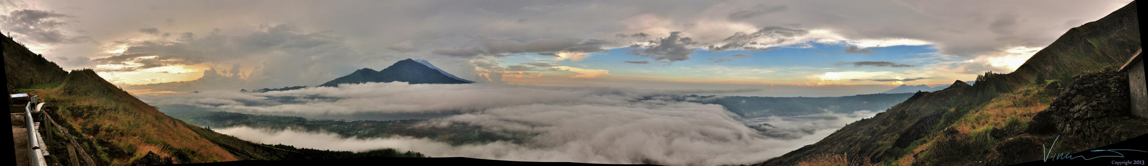 Panorama of View from Mount Batur, Bali[Indonesia] by vinceat852