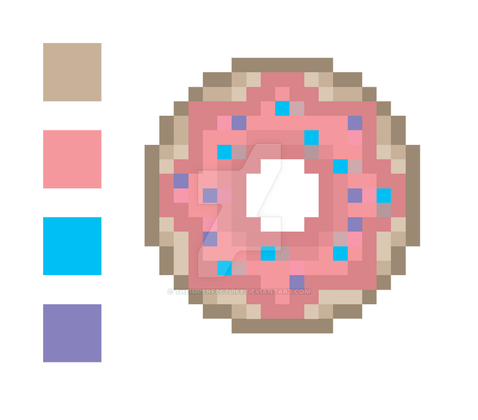 Pixel Art Donut By TheImperfectLife
