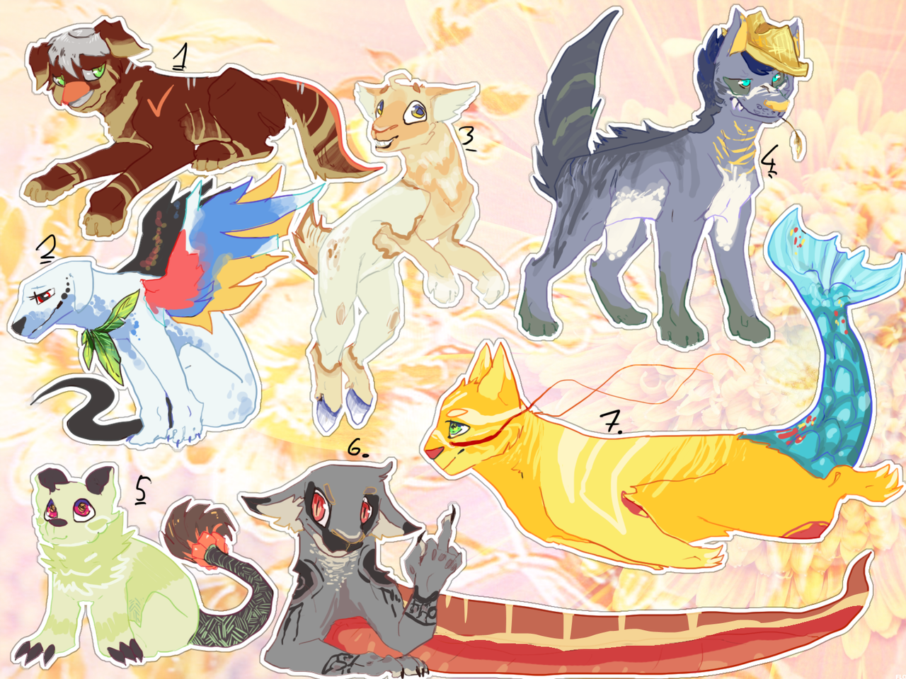 Adoptables (open 7/7) by xSpickeyx