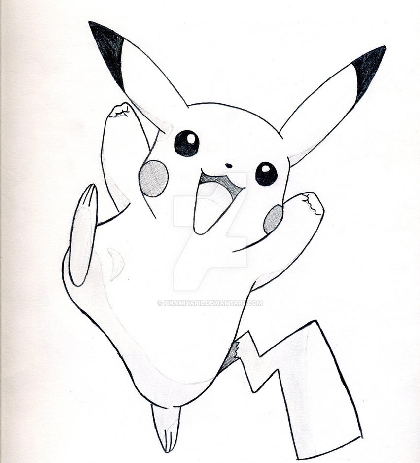 Pikachu drawing by pikamiyapie on deviantart pikachu drawing by pikamiyapie thecheapjerseys Image collections