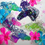 Galaxy Horse Necklaces by Ethereal-Beings