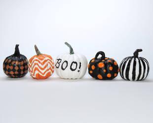 Miniature Painted Pumpkins by Ethereal-Beings