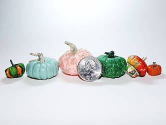 Dollhouse Scale Gourds by Ethereal-Beings