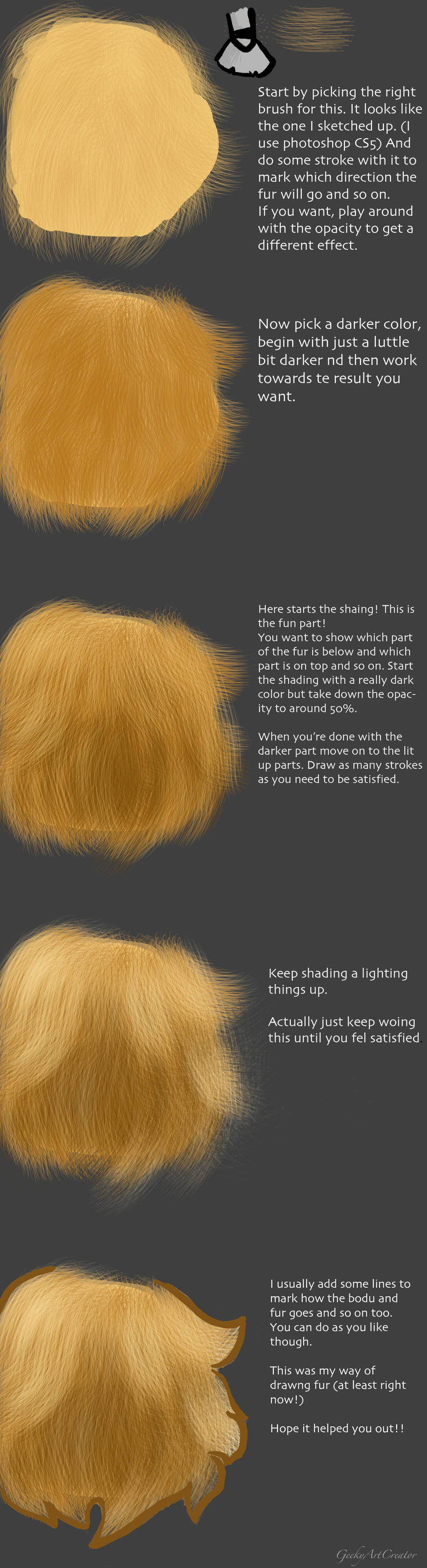 How To Draw Fur In Pscs5 By Haxzure