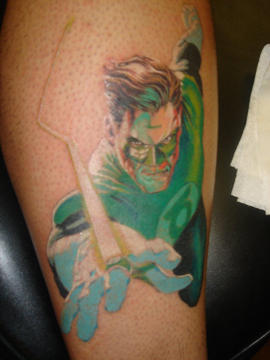 Green lantern tattoo - photo#7