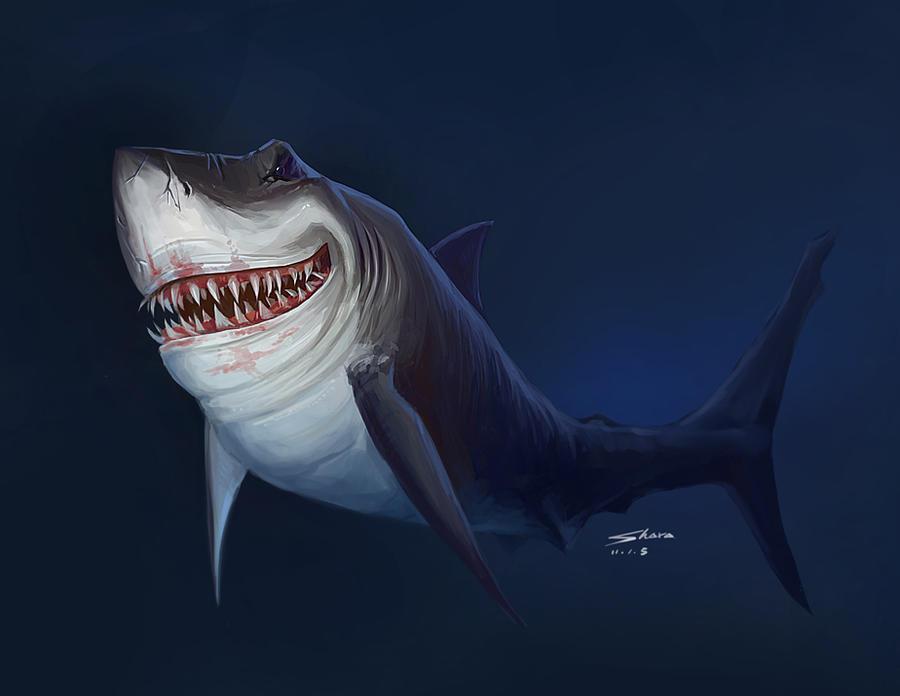 Ferocious Sharks By Sharapix On DeviantArt