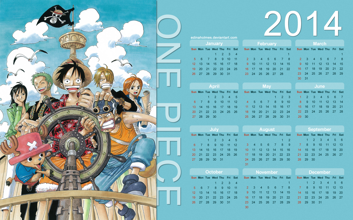Calendar Art Piece : Yearly calendar wallpaper one piece by edinaholmes
