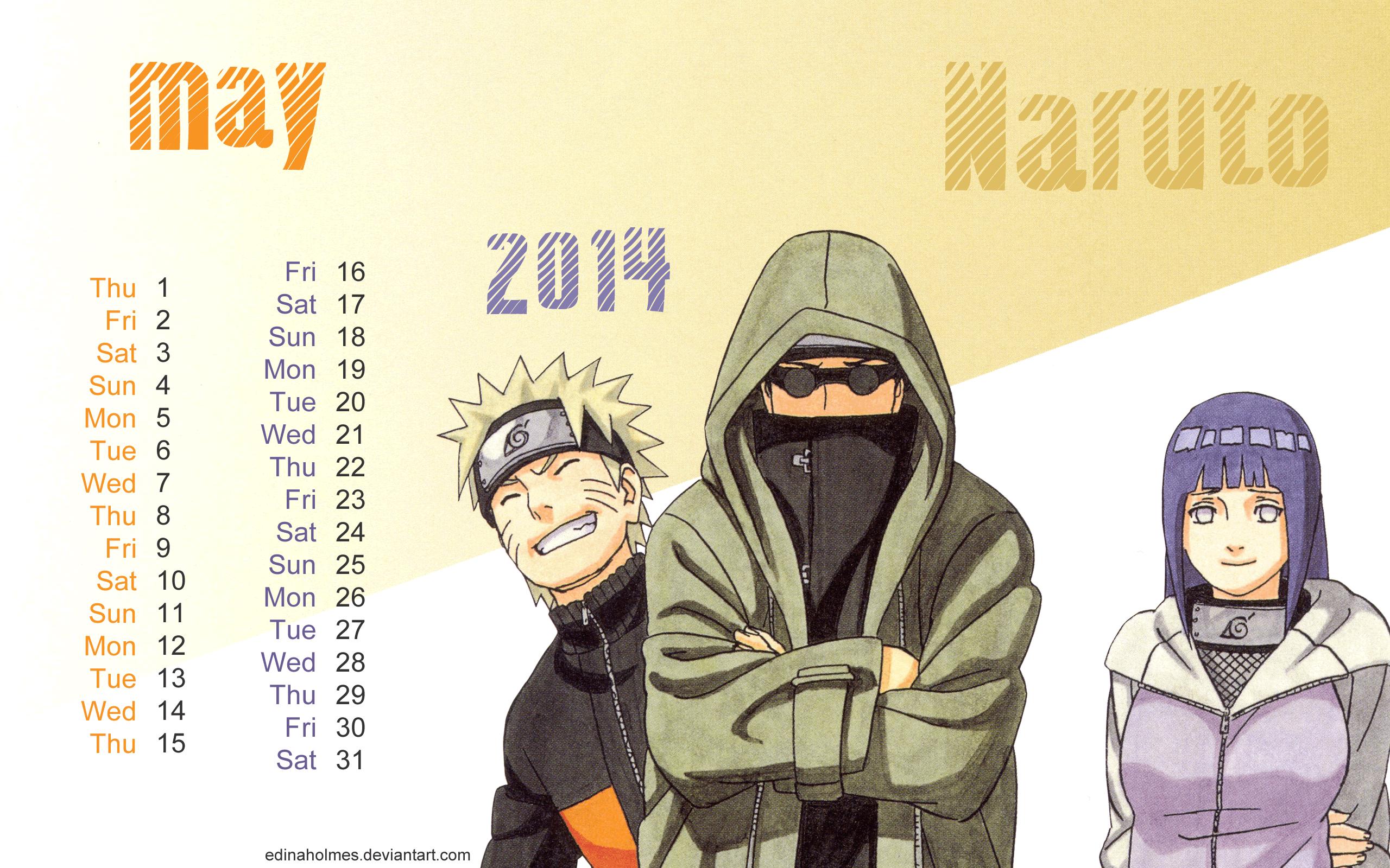 Anime Character Birthday 5 May : Calendar wallpaper may naruto by edinaholmes on