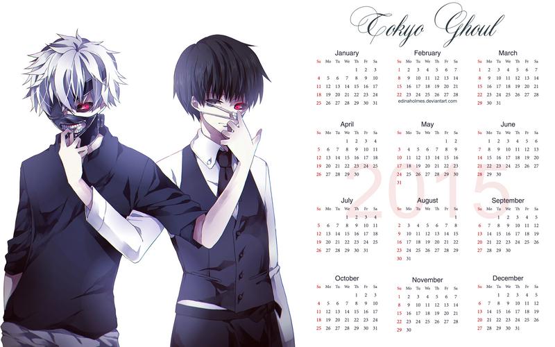 Tokyo Ghoul Calendar Art : Yearly calendar wallpaper tokyo ghoul by