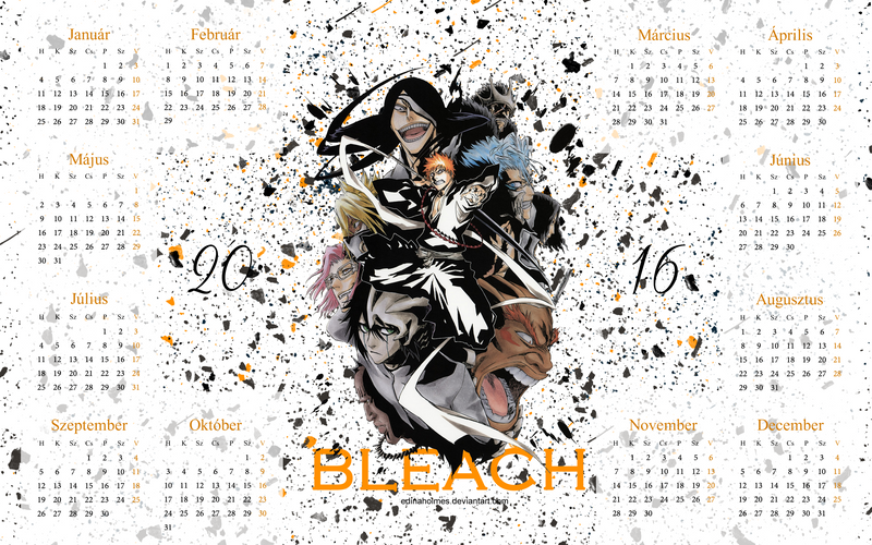 bleach naptár 2016 os eves hatterkep naptar   Bleach by edinaholmes on DeviantArt bleach naptár