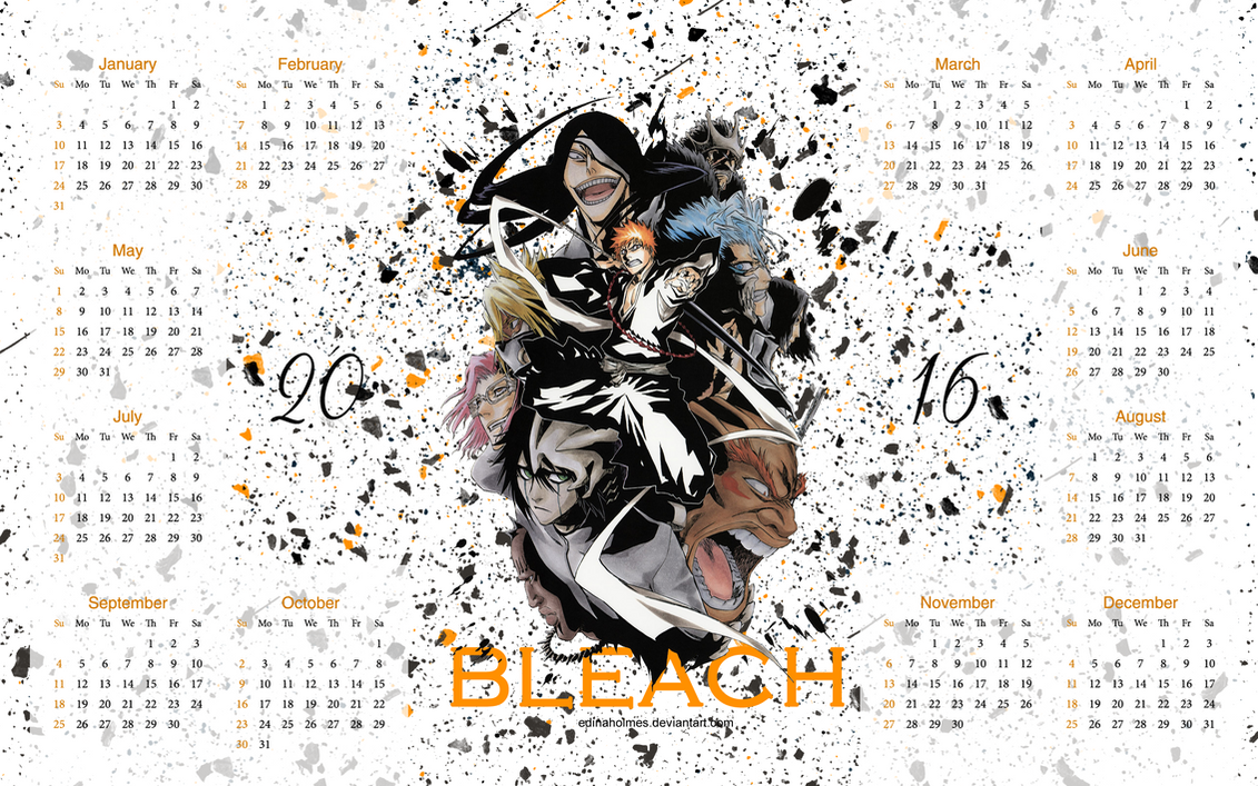 Yearly Calendar Wallpaper : Yearly calendar wallpaper bleach by edinaholmes on