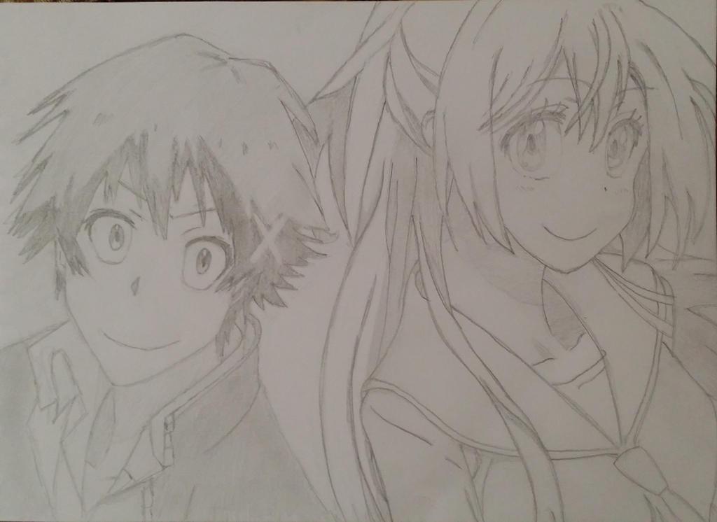 Chitoge x Raku by Bookworm-Ninja