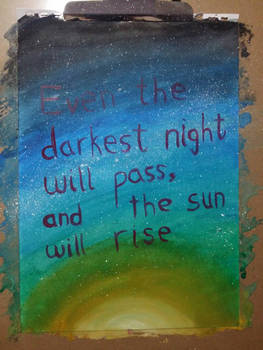 And the sun will rise