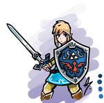 Link from Zelda Breath of the Wild Fanart