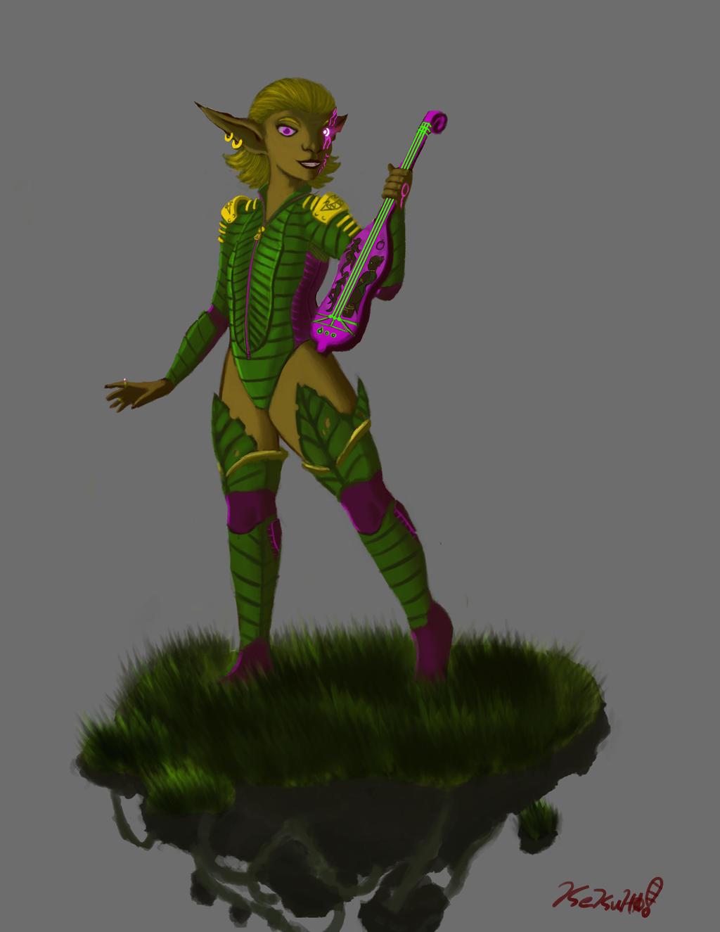 Elven Musician vers 2 by kekuha