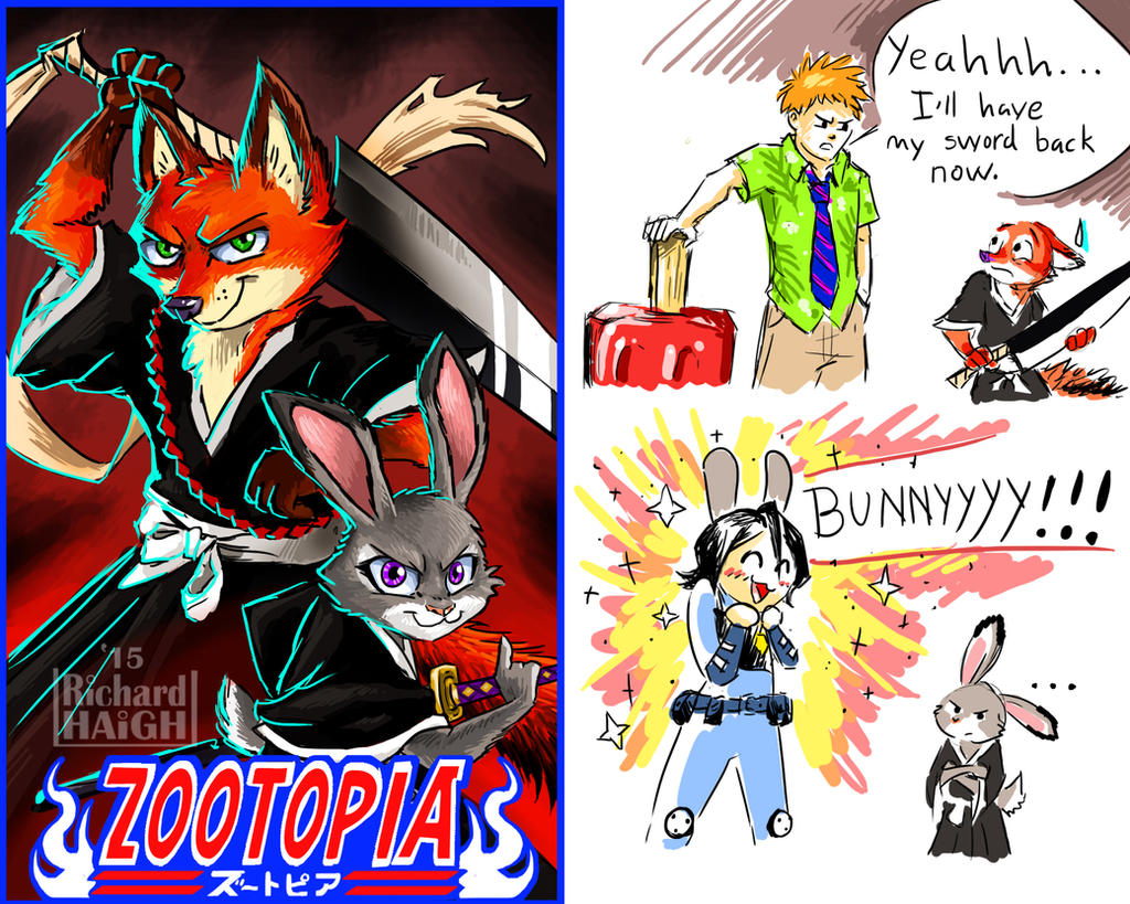 Zootopia Bleach EXTRAS by Pen-Mark on DeviantArt