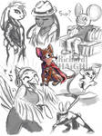 Grey sketch page by Pen-Mark