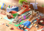 Comm: Zootopia Beach Day with Max
