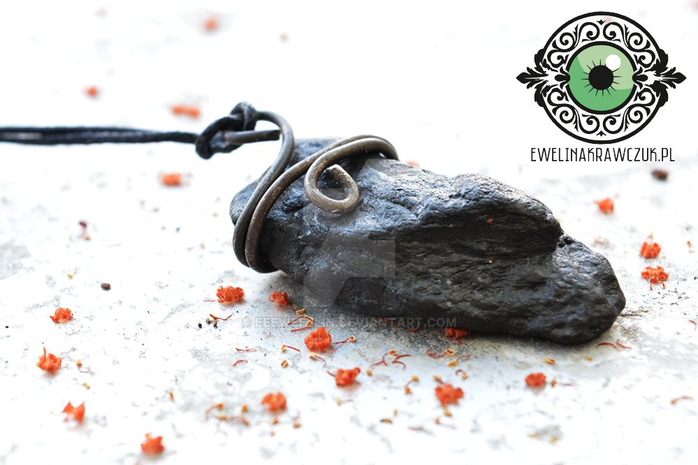 Slowly Dying Now Fantasy ...pendant with lava by eeeweeelin