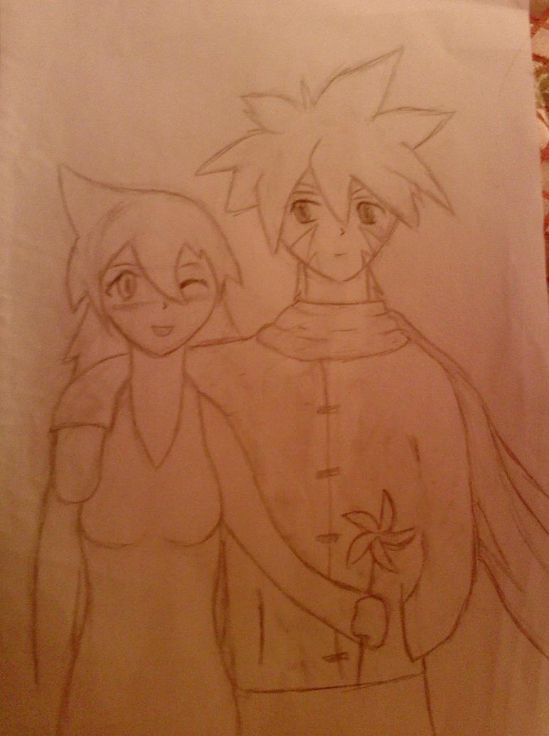 Kai and Hiromi by iAsura