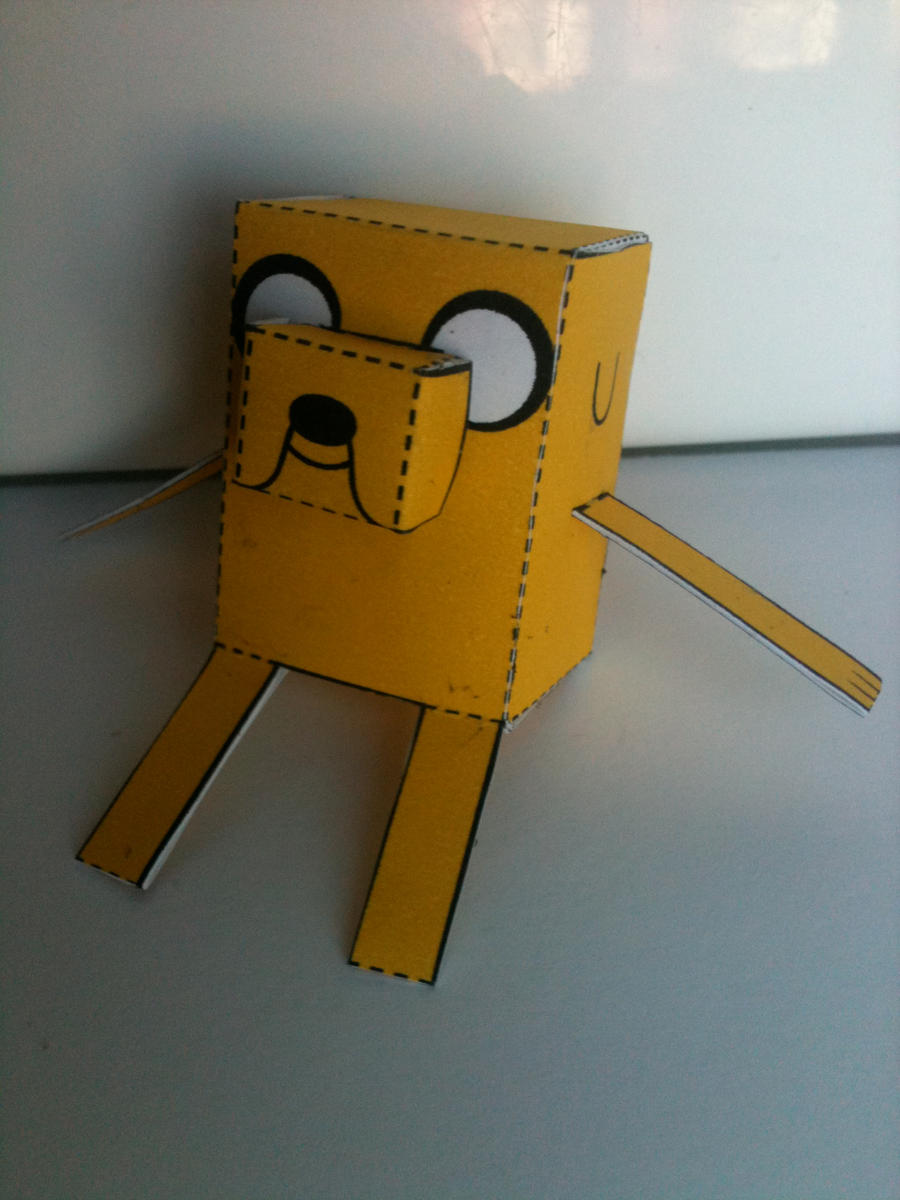 Adventure Time Jake the Dog papercraft 2 by spacemonkeysunited on