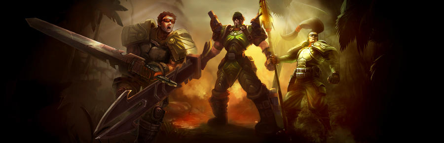 Commando Jarvan, Xin Zhao and Garen. by Isabellefly