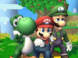 Super Mario Bros. WallPaper by 1337TECh