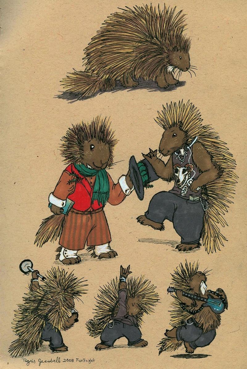 Porcupine Guys by TigrisTheLynx
