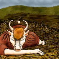 Sleepy Ox by TigrisTheLynx