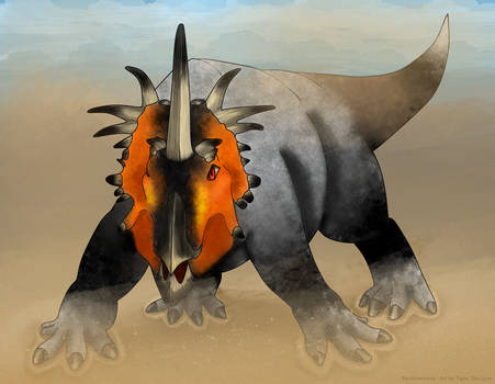 Styracosaurus by TigrisTheLynx