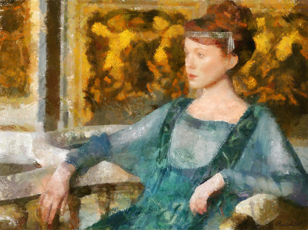 Art Nouveau Goddess by RichterBach