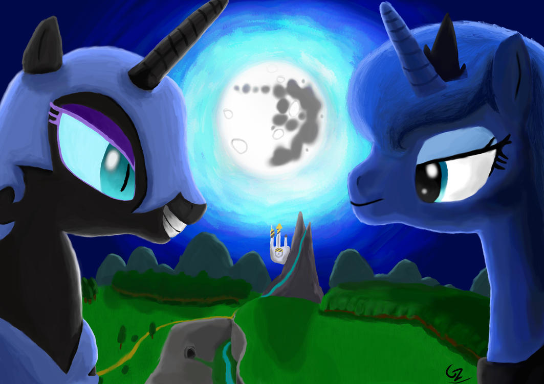 Two Sides Of The Moon by CreeperZone007 on DeviantArt