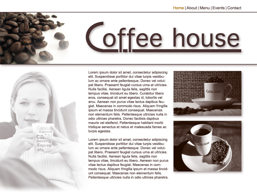 Sitedesign Coffehouse by VectoriusTanne