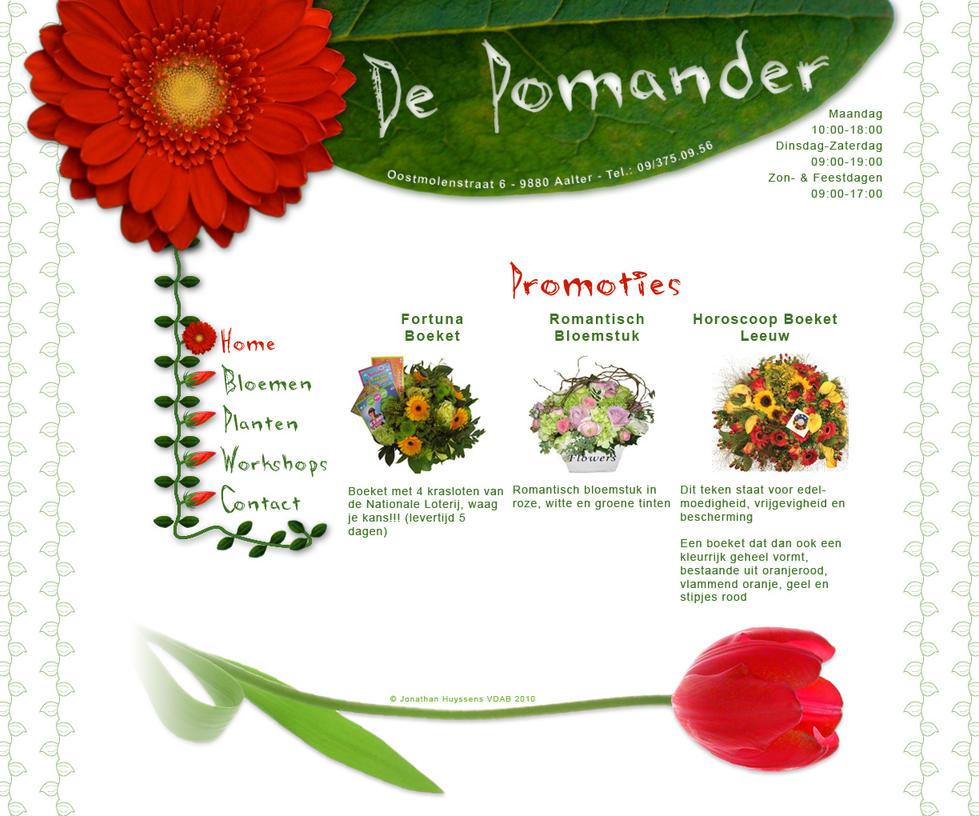 Sitedesign Flowershop 'De Poma by VectoriusTanne