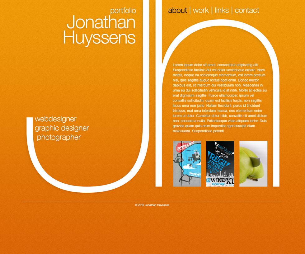 Sitedesign Portfolio Homepage by VectoriusTanne