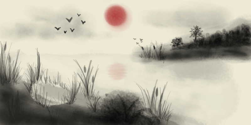 Japanese Painting Wallpaper Japanese Landscape Painting