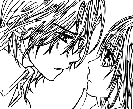 Vampire knight kaname coloring pages for Vampire knight coloring pages