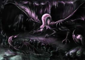 Black Dragon by kawa-rimono