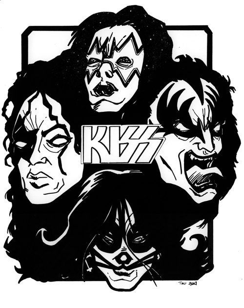 kiss band coloring pages | KISS - gift composition by Av3r on DeviantArt