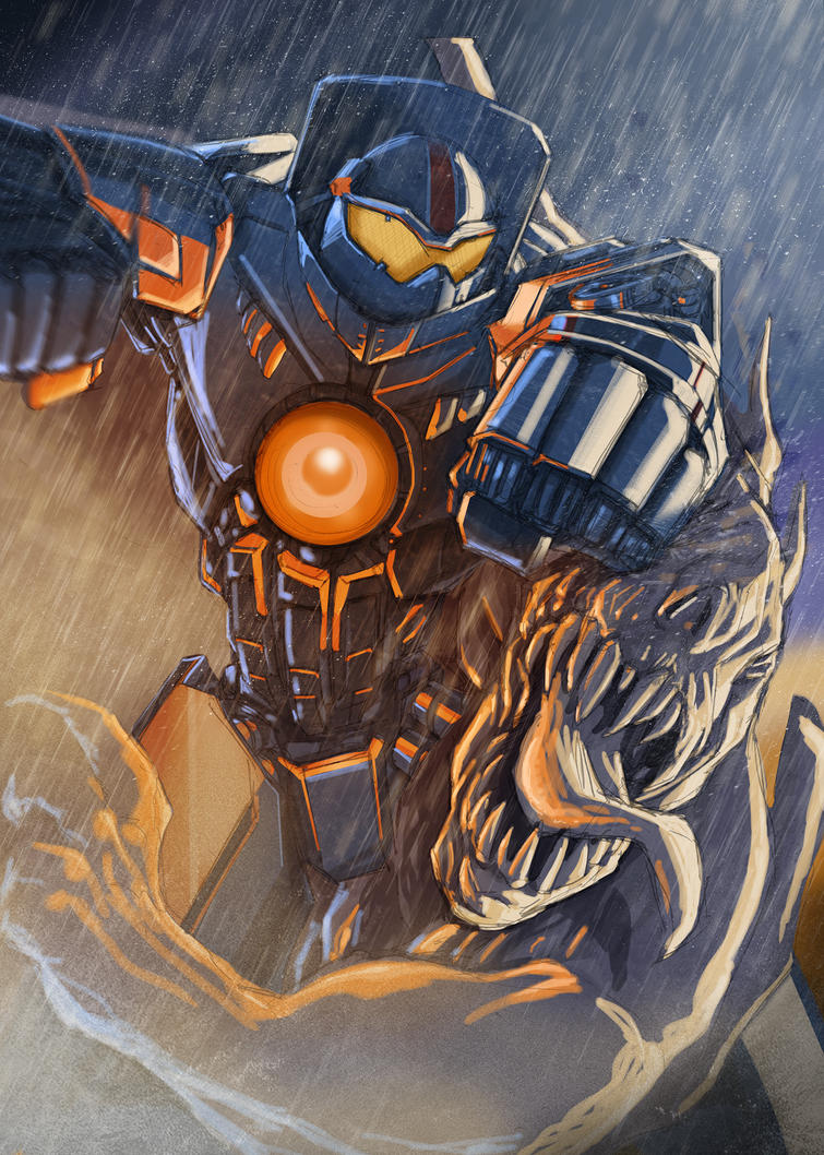 PACIFIC RIM TRIBUTE - Gipsy Danger VS Kaiju by Av3r
