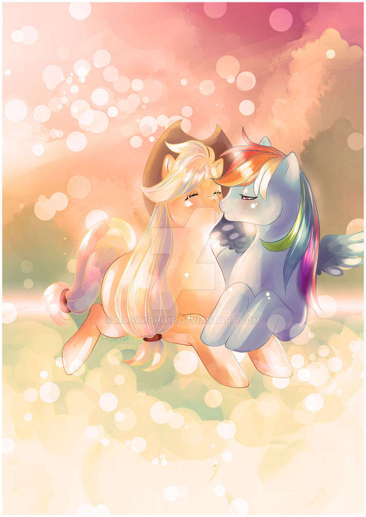 Applejack and Rainbow Dash joined in love by MasakoHime on ...  Applejack