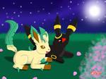 Nightfall: Leafeon and Umbreon