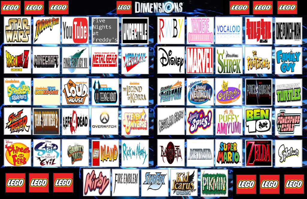 My Top 55 LEGO Dimensions Franchise Picks by legomario83 on DeviantArt