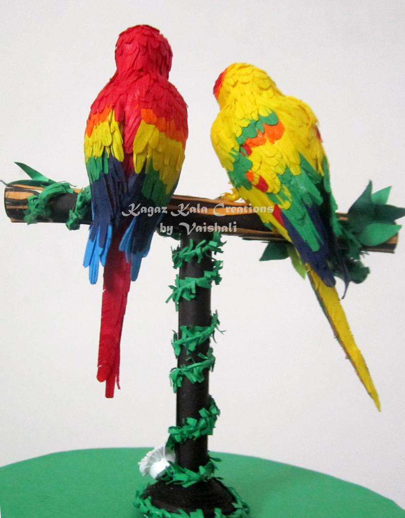 how to make parrot beak with paper