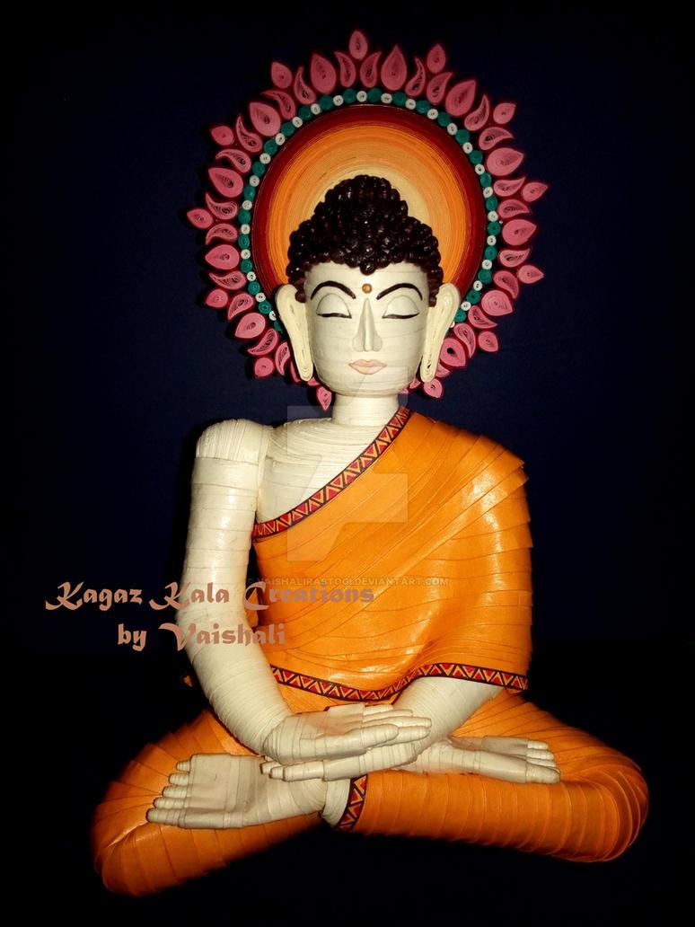3D Gautam Buddha by VaishaliRastogi